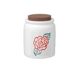 Simplistic Rose Candy Jar