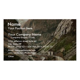 Simplon Pass Gondoschlucht Valais Alps of Swit Business Card Template