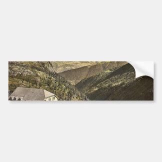 Simplon Pass, Hotel Bellevue, Valais, Alps of, Swi Bumper Stickers