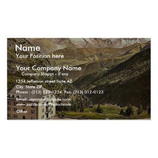 Simplon Pass Hotel Bellevue Valais Alps of Swi Business Card Templates