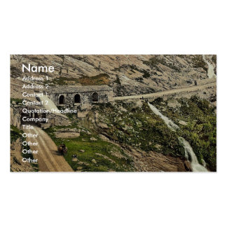 Simplon Pass Kaltwasser Gallerie Valais Alps of Business Card