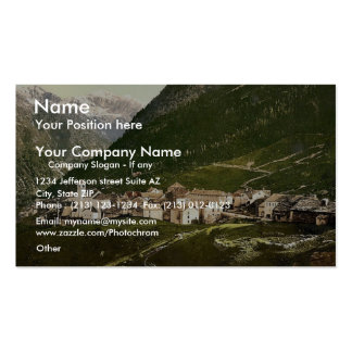Simplon Pass the village Valais Alps of Switze Business Card Template