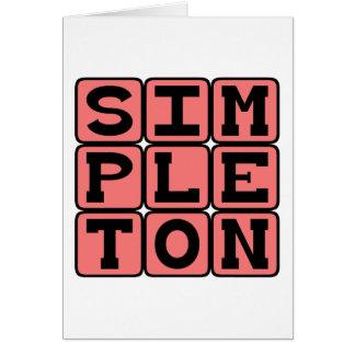 Simplón, persona básica tarjeta de felicitación