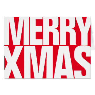 """Simply A """"Big Red"""" Merry Xmas Greetings Card 2"""