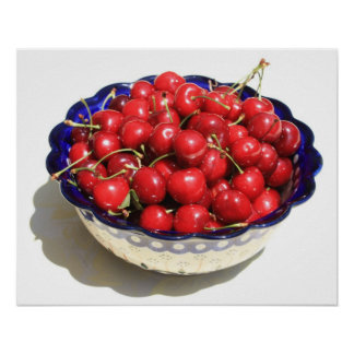 Simply a Bowl of Cherries Posters