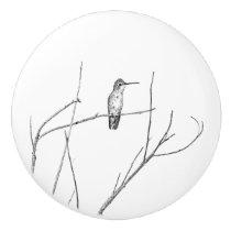 Simply a Hummingbird on a stick Ceramic Knob