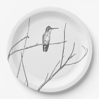 Simply a Hummingbird on a stick Paper Plate