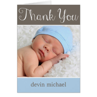 Simply Adorable Baby Thank You Card