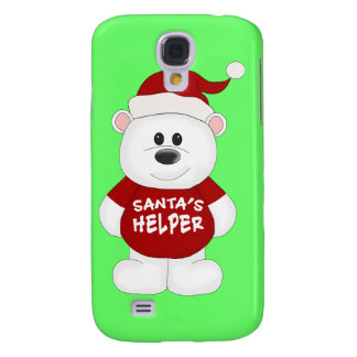 Simply Adorable Christmas Teddy Bear Art Galaxy S4 Cover