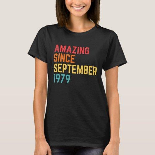 Simply Amazing Since September 1979 Funny 41st Bir T_Shirt