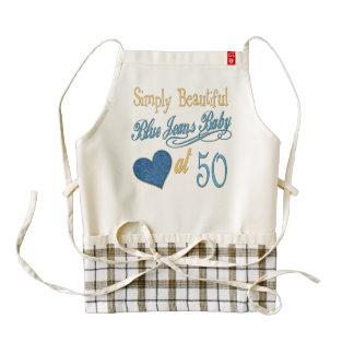 Simply Beautiful 50th Birthday Zazzle HEART Apron
