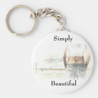 Simply Beautiful Basic Round Button Keychain