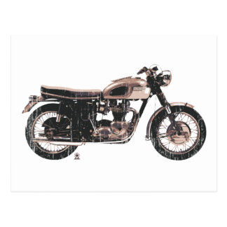 Simply Beautiful Classic Motorcycle Post Card