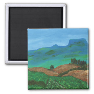 Simply Beauty in Landscape 2 Inch Square Magnet