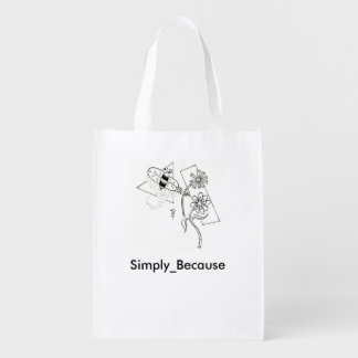 Simply_Because Dusty Bee Reusable Bag Reusable Grocery Bags