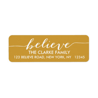 Simply Believe Gold Holiday Label