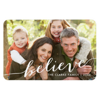 Simply Believe Holiday Full Photo Magnet
