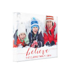 Simply Believe Holiday Greetings Stretched Canvas Prints