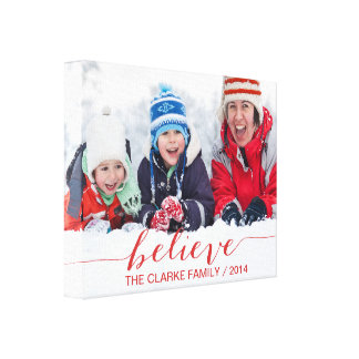 Simply Believe Holiday Greetings Canvas Print