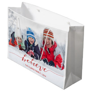 Simply Believe Holiday Greetings Large Gift Bag
