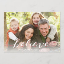 Simply Believe Holiday Photo Card | Red
