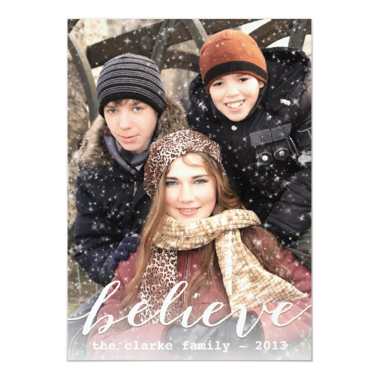 Simply Believe Holiday Photo Cards | White
