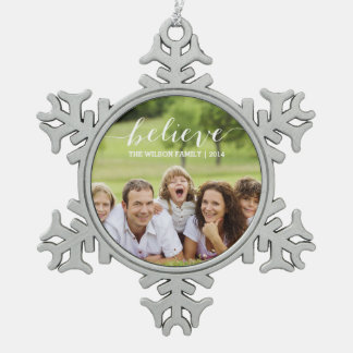 Simply Believe | Holiday Photo Ornament