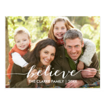 Simply Believe | Holiday Photo Postcard