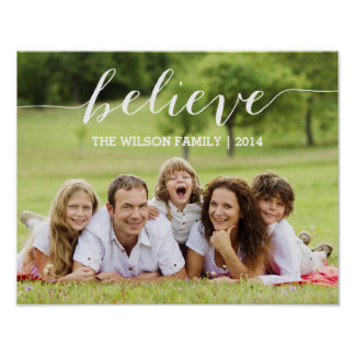 Simply Believe | Holiday Photo Poster
