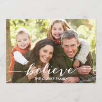 Simply Believe Script | Holiday Photo Card