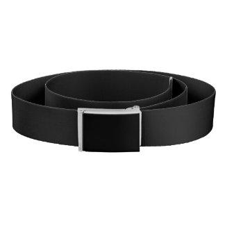 Simply Black Solid Color Belt