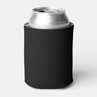 Simply Black Solid Color Can Cooler