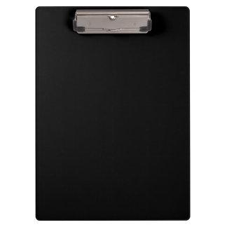 Simply Black Solid Color Clipboard