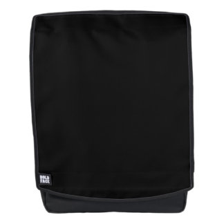 Simply Black Solid Color Customize It Backpack