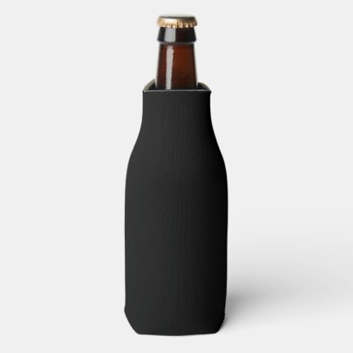 Simply Black Solid Color Customize It Bottle Cooler