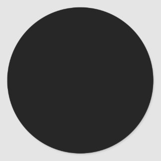 Simply Black Solid Color Customize It Classic Round Sticker