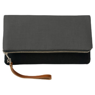 Simply Black Solid Color Customize It Clutch