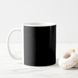 Simply Black Solid Color Customize It Coffee Mug