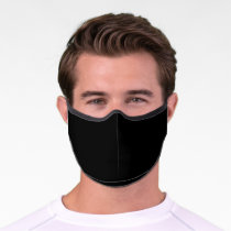 Simply Black Solid Color Customize It COVID19 Premium Face Mask