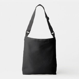 Simply Black Solid Color Customize It Crossbody Bag