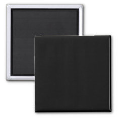 Simply Black Solid Color Customize It Magnet at Zazzle