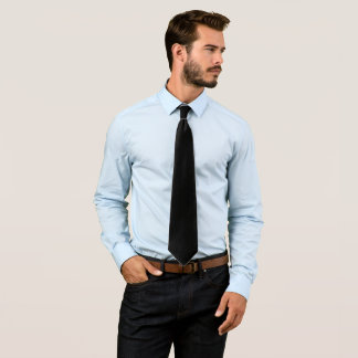 Simply Black Solid Color Customize It Neck Tie