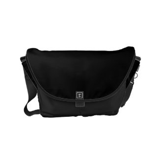 Simply Black Solid Color Customize It Small Messenger Bag
