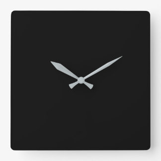 Simply Black Solid Color Customize It Square Wall Clock