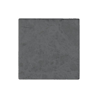 Simply Black Solid Color Customize It Stone Magnet