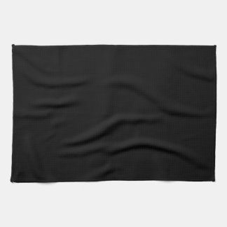 Simply Black Solid Color Customize It Towels
