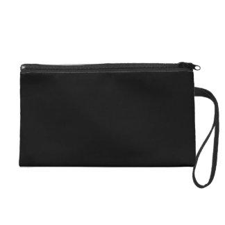 Simply Black Solid Color Customize It Wristlet Purse