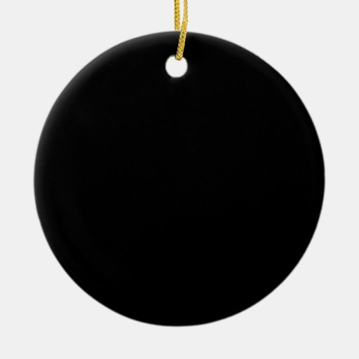 Simply black solid color double sided ceramic round