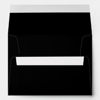Simply Black Solid Color Envelope