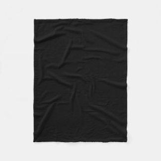 Simply Black Solid Color Fleece Blanket